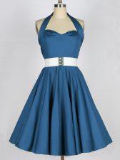 Fantastic Sleeveless Belt Lace Up Dama Dress