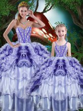 Elegant Floor Length Ball Gowns Sleeveless Multi-color Quinceanera Gown Lace Up