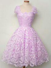 Top Selling Floor Length A-line Sleeveless Lilac Vestidos de Damas Lace Up