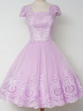 Top Selling Cap Sleeves Lace Zipper Court Dresses for Sweet 16