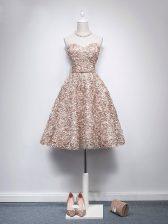 Sleeveless Belt Zipper Prom Evening Gown