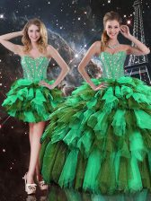 Floor Length Ball Gowns Sleeveless Multi-color Quinceanera Gowns Lace Up