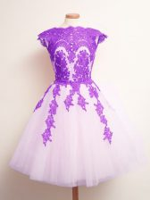 Fashion Scalloped Sleeveless Lace Up Quinceanera Court of Honor Dress Multi-color Tulle