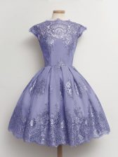 Cap Sleeves Lace Lace Up Quinceanera Dama Dress