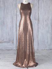 Glamorous Sleeveless Appliques Criss Cross Quinceanera Court of Honor Dress