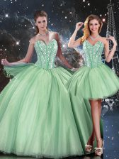 Custom Made Sleeveless Beading Lace Up 15 Quinceanera Dress