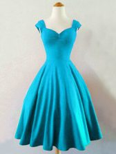 Straps Sleeveless Taffeta Quinceanera Court of Honor Dress Ruching Lace Up