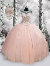 Deluxe Sleeveless Lace Up Floor Length Beading and Sequins Sweet 16 Dresses