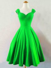 Free and Easy A-line Ruching Quinceanera Court Dresses Lace Up Taffeta Sleeveless Knee Length