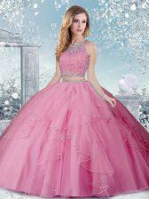 Sleeveless Beading Clasp Handle Quinceanera Dress