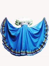 Most Popular Floor Length Baby Blue Quinceanera Dress Taffeta Short Sleeves Ruffled Layers