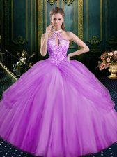 Sleeveless Lace Up Floor Length Beading and Pick Ups Sweet 16 Dress