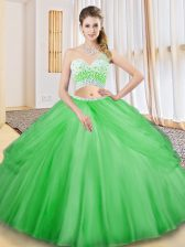 Exquisite Sleeveless Tulle Criss Cross Vestidos de Quinceanera for Military Ball and Sweet 16 and Quinceanera