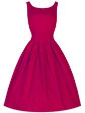 Sleeveless Lace Up Knee Length Ruching Quinceanera Dama Dress