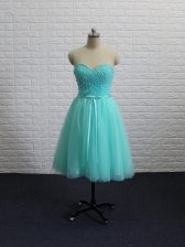 Custom Fit Sleeveless Beading and Sashes ribbons Lace Up Prom Gown