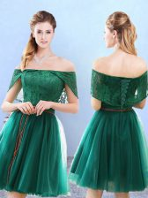 Discount Off The Shoulder Cap Sleeves Tulle Court Dresses for Sweet 16 Lace Lace Up
