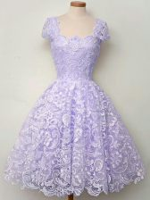 Top Selling Lavender Quinceanera Court Dresses Prom and Party and Wedding Party with Lace Scoop Sleeveless Lace Up