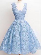 Unique Sleeveless Lace Zipper Dama Dress for Quinceanera