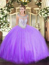 Popular Floor Length Ball Gowns Sleeveless Lavender Ball Gown Prom Dress Zipper
