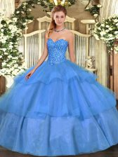 Dramatic Sleeveless Lace Up Floor Length Beading and Ruffled Layers Quinceanera Dresses