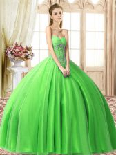 Dynamic Beading 15 Quinceanera Dress Lace Up Sleeveless Floor Length