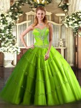 Charming Floor Length Sweet 16 Dresses Sweetheart Sleeveless Lace Up