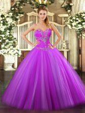 Spectacular Sleeveless Zipper Floor Length Beading Ball Gown Prom Dress