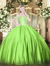 Beading Sweet 16 Quinceanera Dress Lace Up Sleeveless Floor Length