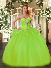 Sleeveless Tulle Lace Up 15th Birthday Dress for Sweet 16 and Quinceanera
