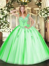 Captivating Sleeveless Beading Lace Up Quinceanera Dresses