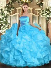 Sleeveless Ruffles Lace Up Vestidos de Quinceanera