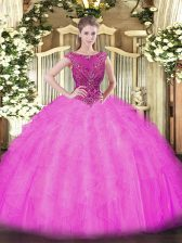 Enchanting Ball Gowns Sleeveless Lilac Sweet 16 Dresses Zipper