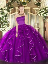 Sleeveless Zipper Floor Length Ruffles Sweet 16 Quinceanera Dress