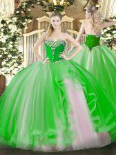 Sweetheart Sleeveless Lace Up Sweet 16 Dress Tulle