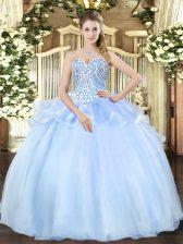 Fashion Sleeveless Beading Lace Up 15 Quinceanera Dress