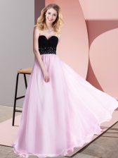 Dazzling Sleeveless Beading Lace Up Evening Dress