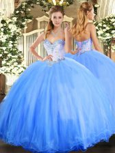Cheap Sleeveless Beading Lace Up Quinceanera Dress