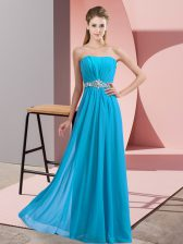 Sleeveless Beading Lace Up Homecoming Dress