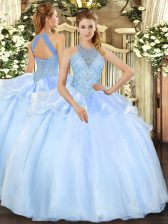 Stylish Sleeveless Beading Lace Up Sweet 16 Dresses