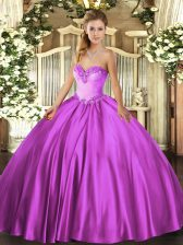 Amazing Sleeveless Lace Up Floor Length Beading Quinceanera Gown