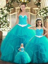Superior Sleeveless Ruffles Lace Up 15th Birthday Dress