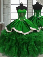 Quinceanera Gowns Sweet 16 and Quinceanera with Beading and Ruffles Sweetheart Sleeveless Lace Up