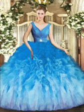 Floor Length Ball Gowns Sleeveless Multi-color Ball Gown Prom Dress Backless