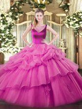 High End Floor Length Ball Gowns Sleeveless Lilac Sweet 16 Dress Side Zipper