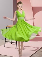 High End Sleeveless Beading Side Zipper Court Dresses for Sweet 16