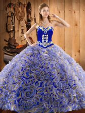 With Train Ball Gowns Sleeveless Multi-color Quinceanera Gown Sweep Train Lace Up