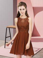 Elegant Sleeveless Zipper Mini Length Appliques Dama Dress