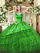 Quinceanera Dress Sweet 16 and Quinceanera with Beading and Embroidery Scoop Sleeveless Side Zipper