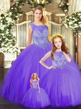 Lovely Sleeveless Beading Lace Up 15th Birthday Dress