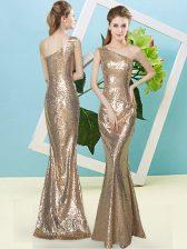 Sexy Sleeveless Sequins Zipper Evening Dress